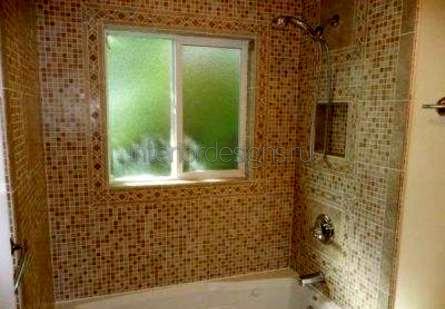 оформление дизайна ванной с мозаикой