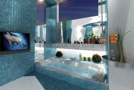 проект-дизайн ванной комнаты с мозаикой