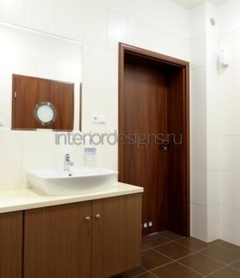 оформление дизайна красивой ванной комнаты