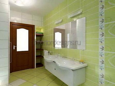 оформление красивого дизайна ванной комнаты