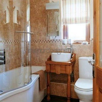 дизайн простой ванной
