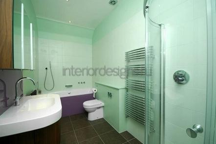оформление простого дизайна ванной комнаты