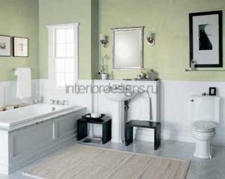 оформление простого дизайна ванной