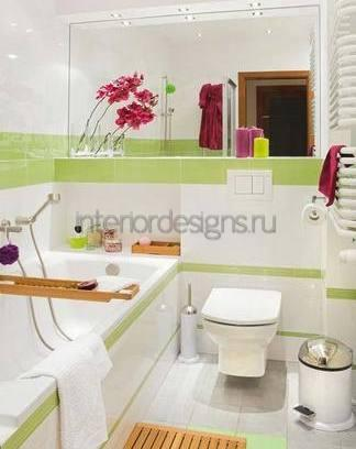 простой дизайн в ванной комнаты