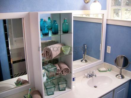 простой дизайн в ванной