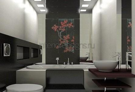 варианты и примеры проектов ванных комнат