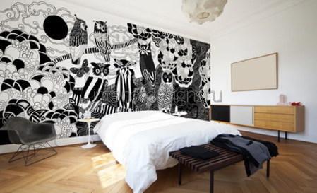 фотообои для интерьера спальни