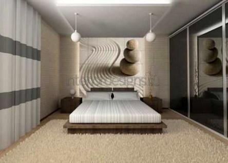 обустройство интерьера спальни с фотообоями