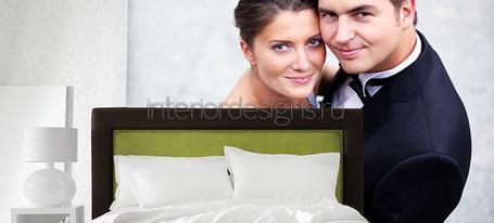 интерьер спальни с оригинальными фотообоями