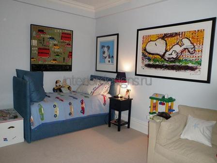 дизайн-проект детской комнаты мальчика
