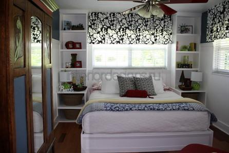 разработка дизайна узкой спальни