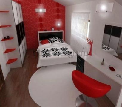 проектирование дизайна узкой спальни