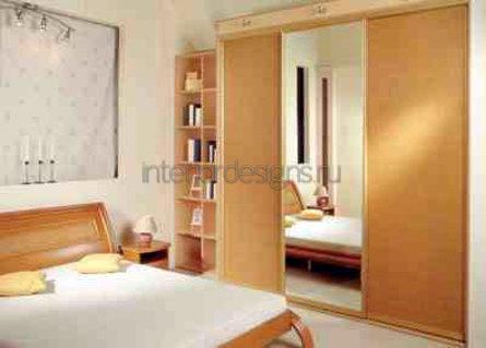 создание дизайна узкой спальни