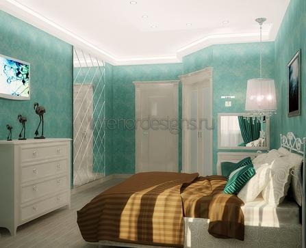 ремонт узкой спальни