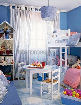 цвет комнаты для двоих детей