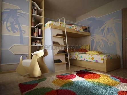 оформление дизайна интерьера детской комнаты