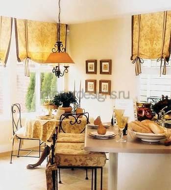 идеи дизайна штор для кухни
