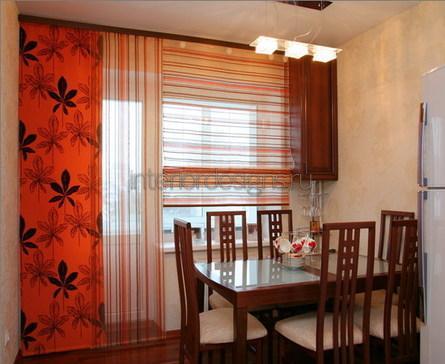 японские шторы для оформления кухни