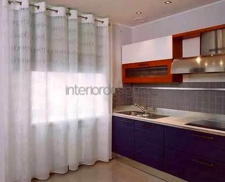 изысканный дизайн штор для кухни