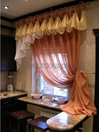 ламбрекен для кухонного окна