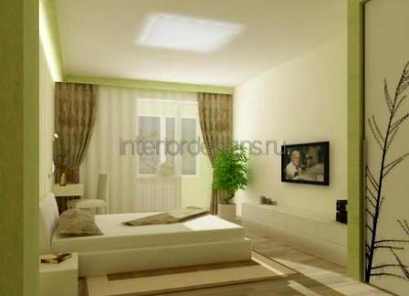 зеленая цветовая палитра в небольших комнатах