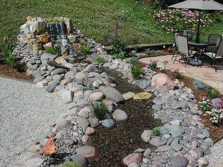 искусственный водоем возле частного дома