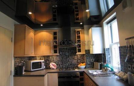 разработка дизайна потолков на кухне