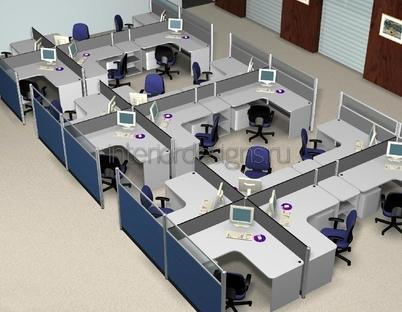 зонирование рабочего помещения