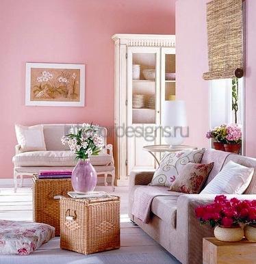 цветочный орнамент в комнате
