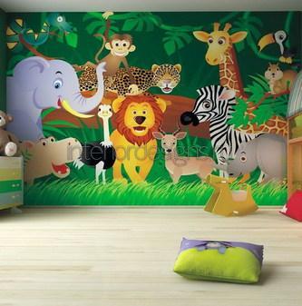 оформление детской комнаты в стиле джунглей