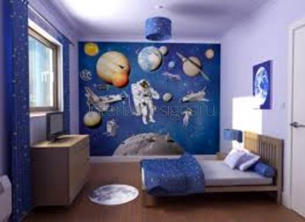 космическая тематика в интерьере