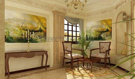 комната отдыха в классическом стиле