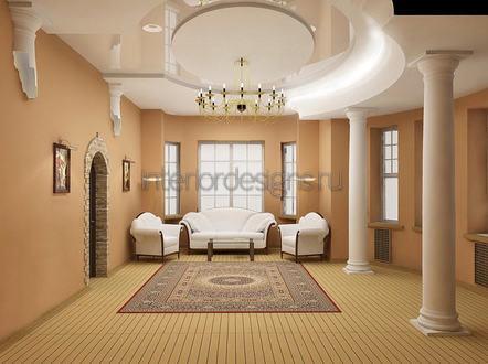 лепнина в оформлении гостиной