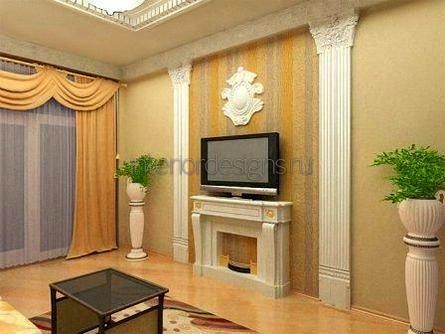 ТВ-стена в гостиной