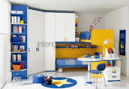 проект интерьера маленькой детской комнаты