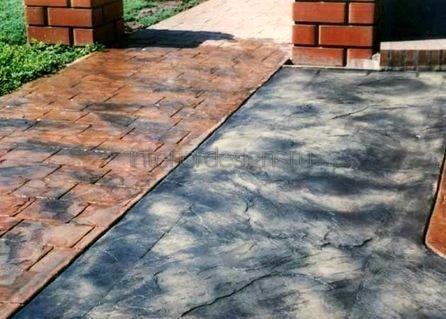 площадка из декоративного бетона