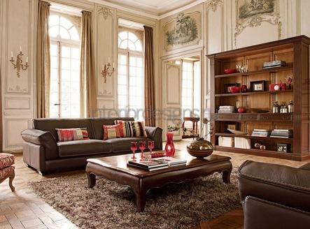 мебель из натурального дерева для гостиной