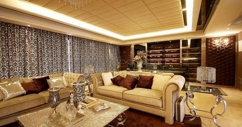 потолок с оригинальной подсветкой