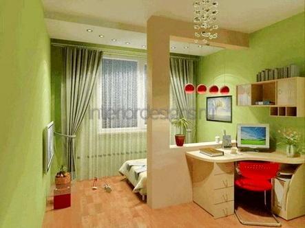 интерьер кабинета-спальни
