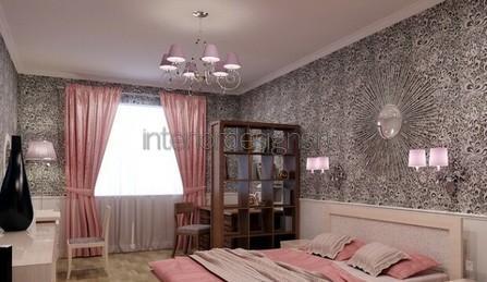 розовый цвет в спальной комнате