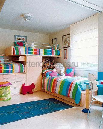 спальня для троих детей