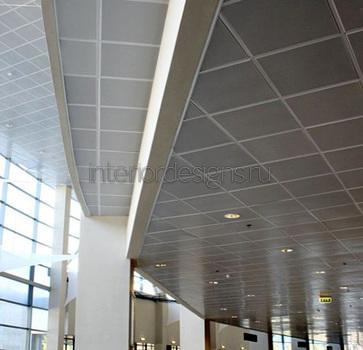отделка потолка в кабинете