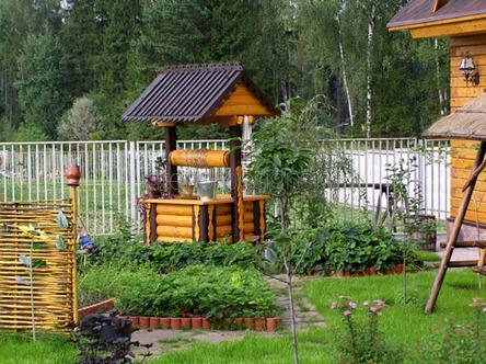 оформление частного двора
