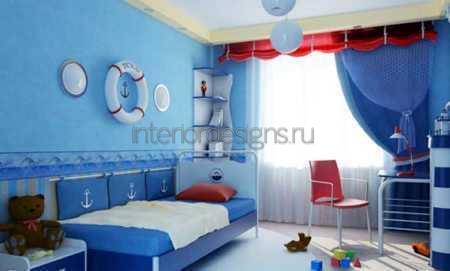 оформление комнаты в морском стиле