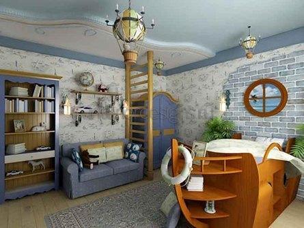 морские мотивы в комнате мальчика