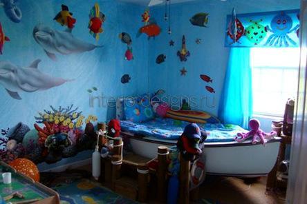идеи интерьера детской комнаты для мальчика