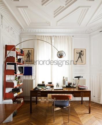 потолок в домашнем кабинете