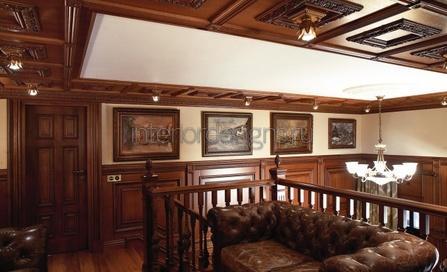 деревянная отделка комнаты