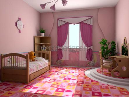 розовый цвет детской