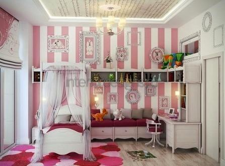 дизайн и интерьер детской для девочки